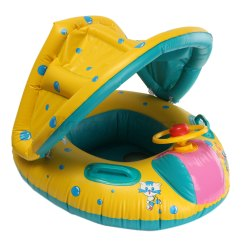 Baby Blow Up Ring Chair Outdoor Folding With Canopy Inflatable Sunshade Child Kid Float Seat Boat