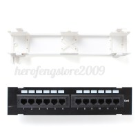 RJ45 CAT6 Patch Panel 12 Way Ports Wall Mount Both Surface ...