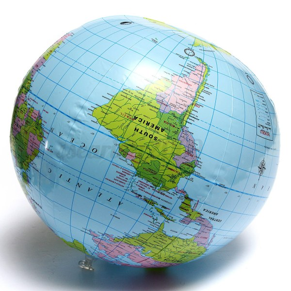 Inflatable World Globe Earth Map Geography Teacher Aid