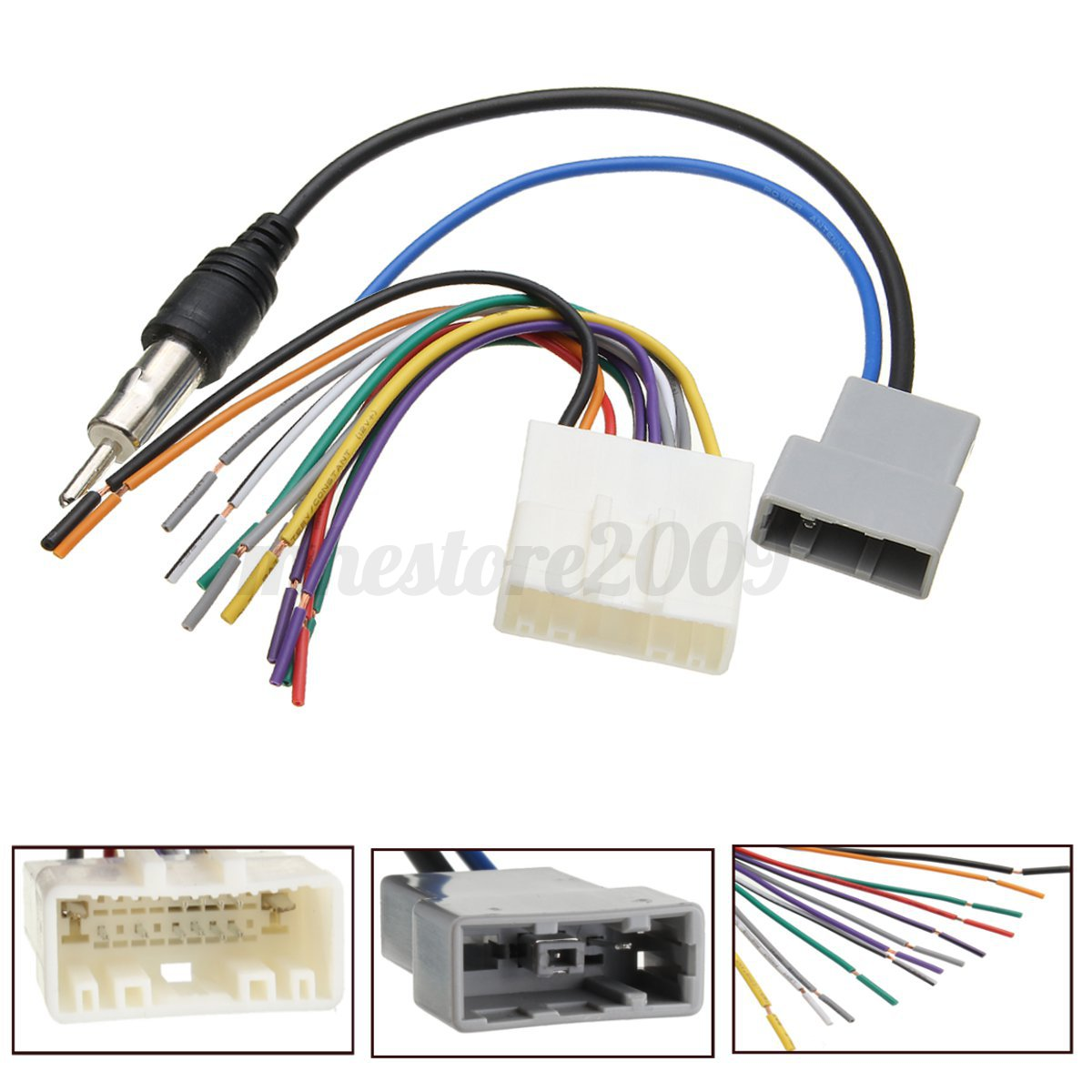 radio plug wiring diagram automobile alternator car dvd install stereo wire harness cable plugs