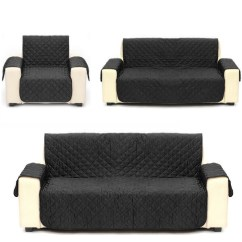 Quilted Microsuede Sofa Cover Child Chair Microfiber Pet Dog Couch Furniture Protector