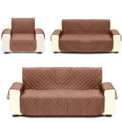 Quilted Microsuede Sofa Cover Flexsteel Leather Sets Microfiber Pet Dog Couch Furniture Protector