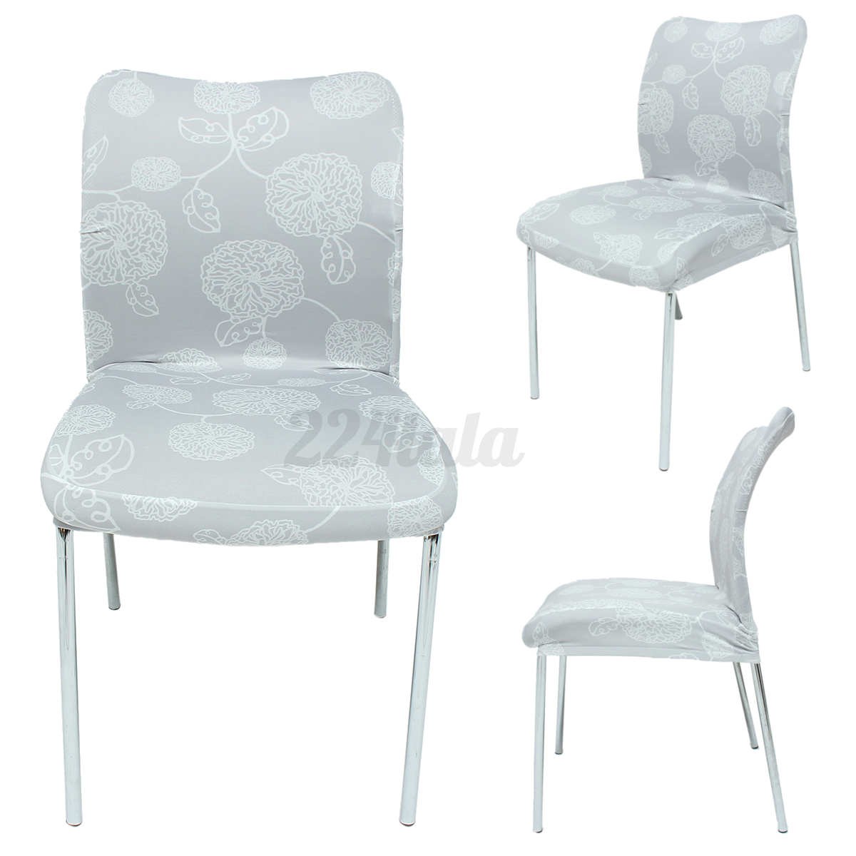 GRAY UNIVERSAL CHAIR Seat Cover High Elastic Chair Cover