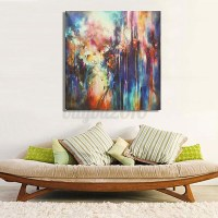 Abstract Modern Oil Painting Art Unframed Canvas Print ...