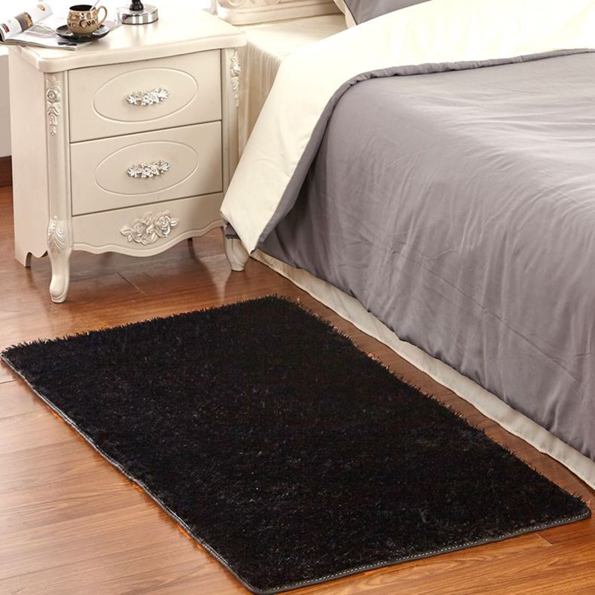 non slip kitchen rugs portable island with granite top 6090cm carpet living room long wool bathroom mat