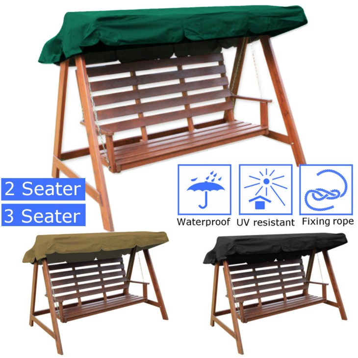 Details about 2&3 Seater Garden Swing Chair Hammock Canopy Spare Cover  Patio Outdoor Seat 1