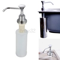 220ml White Kitchen Chrome Liquid Soap Dispenser Bathroom ...
