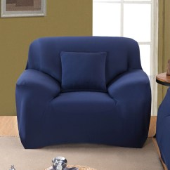 Single Couch Chair Cover Cosco Retro Stool New Navy Blue Slipcover Sofa Loveseat Furniture