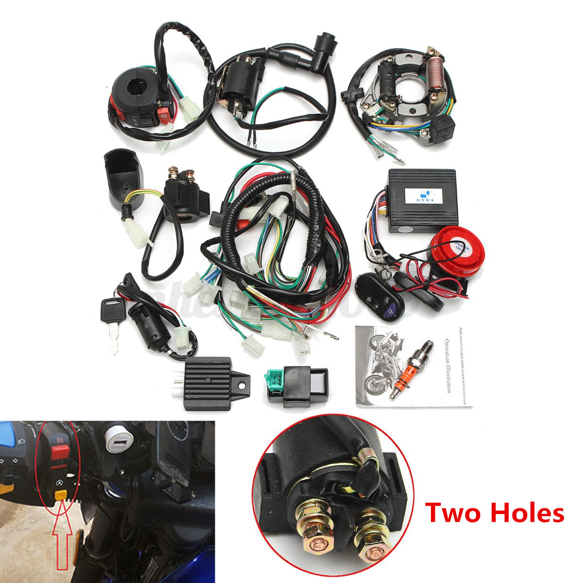 hight resolution of cdi wiring harness 50cc 70cc 110cc 125cc remote start switch for detail image ebay 50cc atv