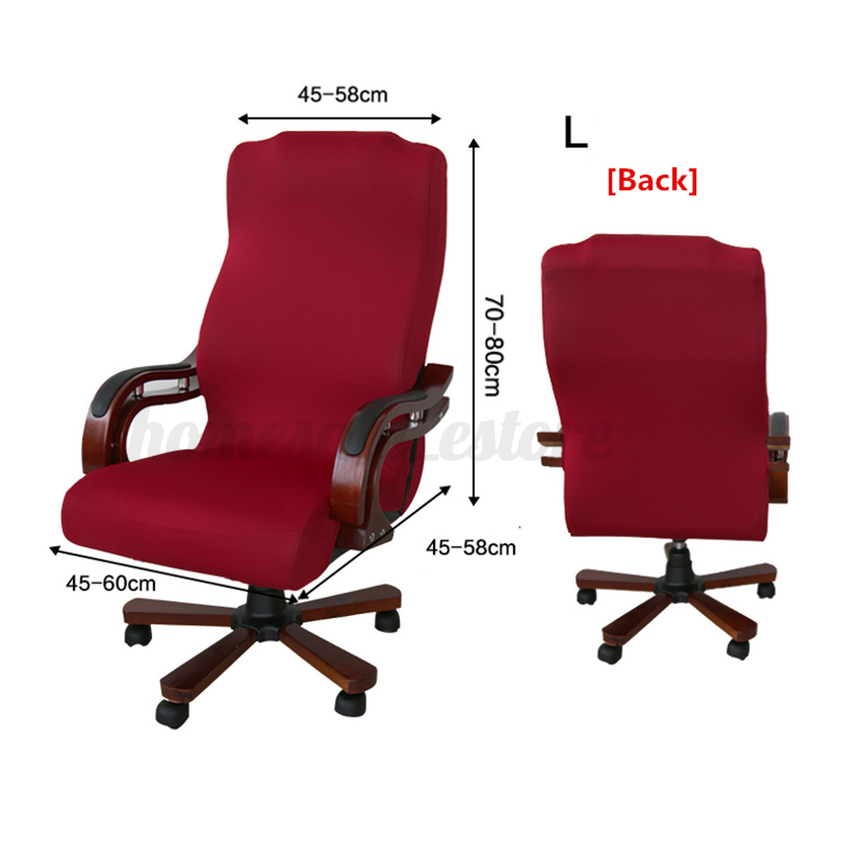 office chair seat cover small corner accent swivel computer stretch armchair
