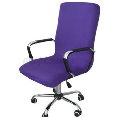 Office Chair Seat Cover Blue Wingback Covers Swivel Computer Stretch Spandex