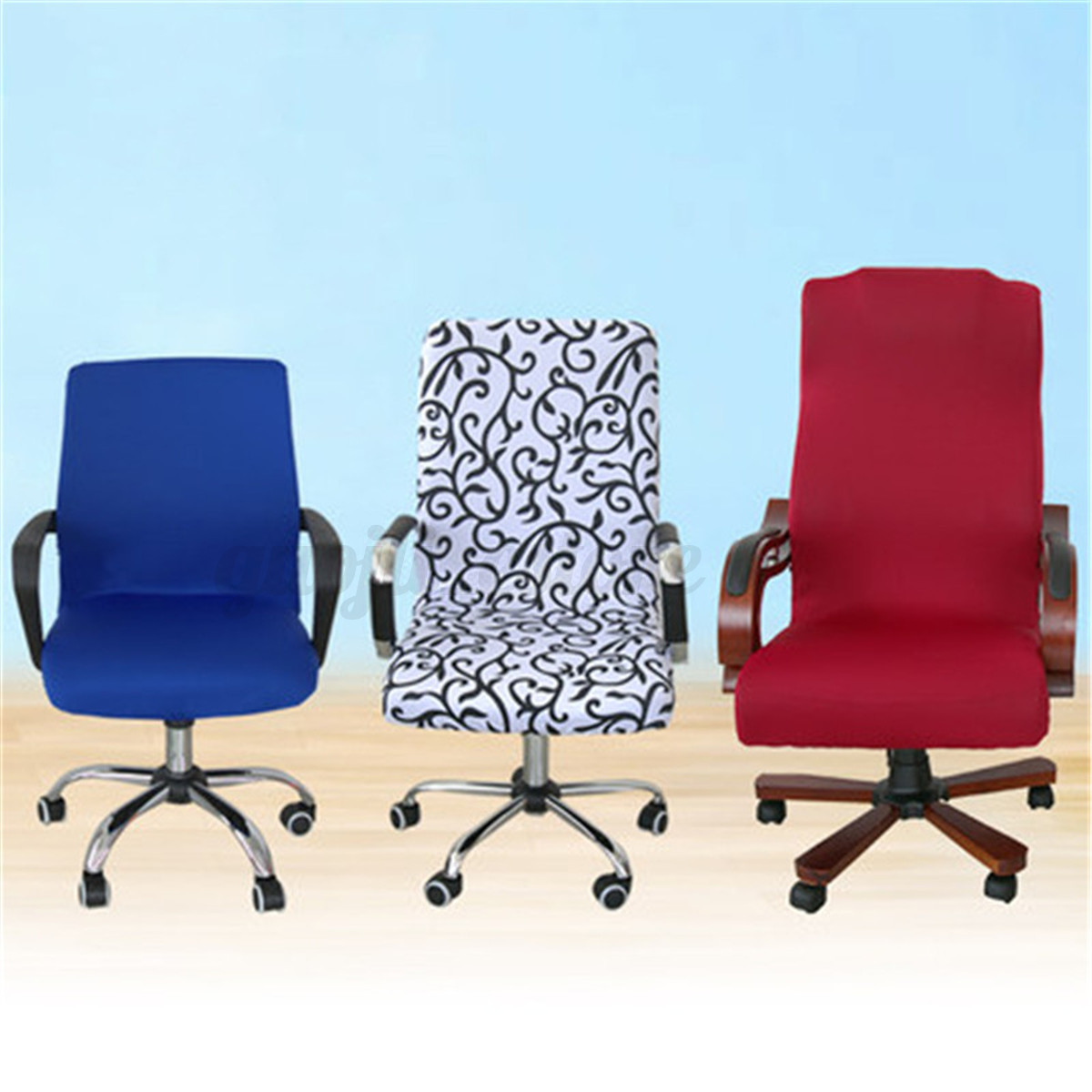 desk chair cover table and chairs garden asda swivel computer stretch office spandex