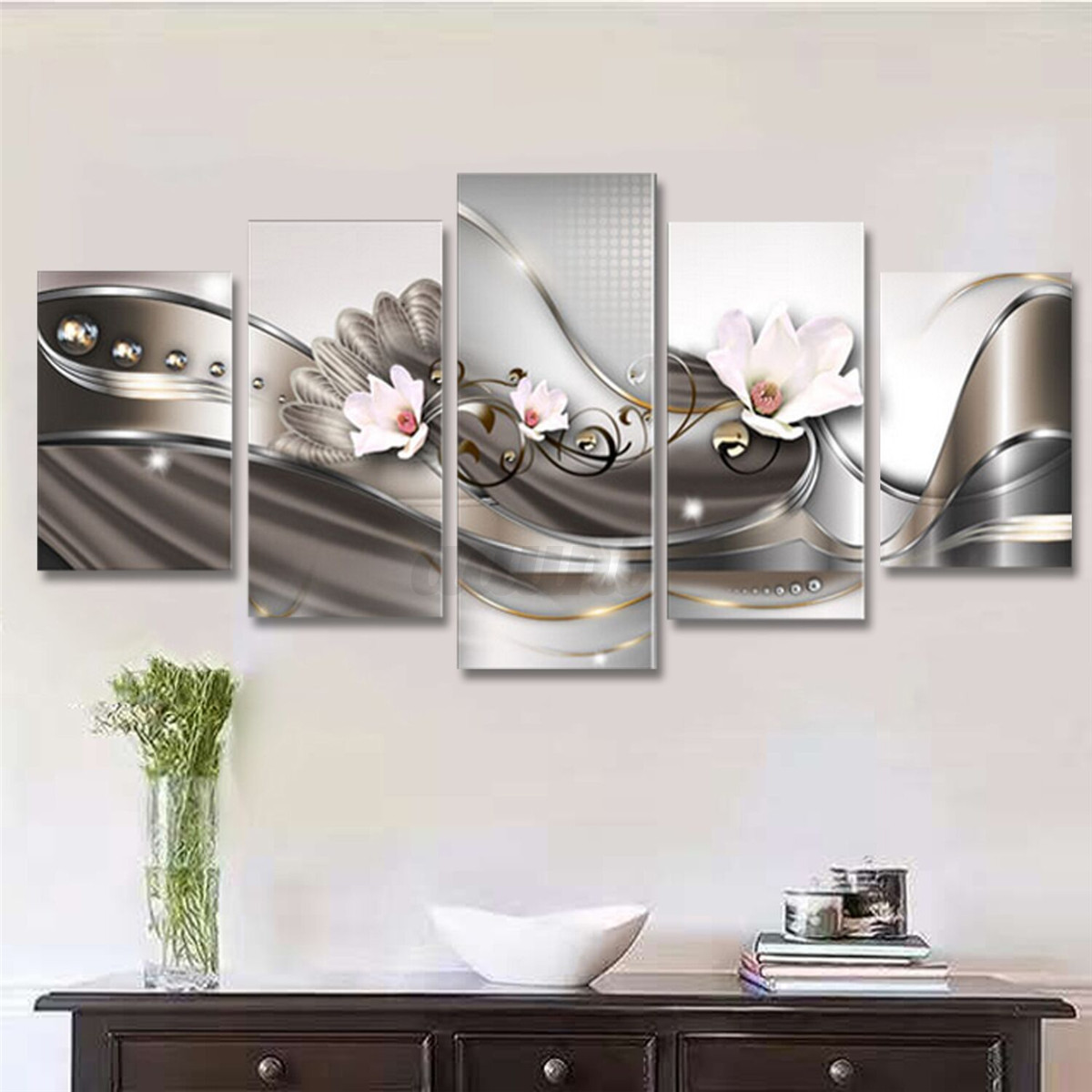 5 PANEL Canvas Print Modern Picture Wall Art Decor Home
