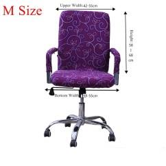 Swivel Chair Covers Indoor Swing Uk Stretch Elastic Office Computer Slip