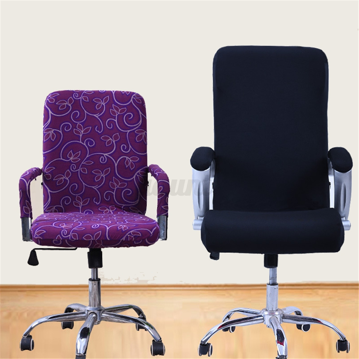 desk chair cover plastic stackable chairs spandex elastic office computer swivel