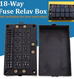 details about automotive 18 way fuse relay box holder block circuit protector terminals black [ 1200 x 1200 Pixel ]