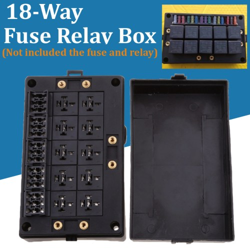 small resolution of details about automotive 18 way fuse relay box holder block circuit protector terminals black