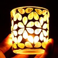 MOSAIC Glass Candle Holder Votive Moroccan Tea Light Table ...