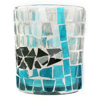 Mosaic Glass Candle Holders Tealight Votive Holder Decor