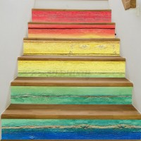 3D 6pc Stair Stickers Risers Mural Decoration Photo Vinyl ...