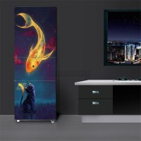 3D Wall Art Sticker Vinyl Decal Self Adhesive Door Fridge ...