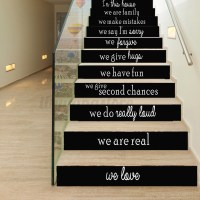 3D English Letters Stair Risers Photo Mural Vinyl Decal ...