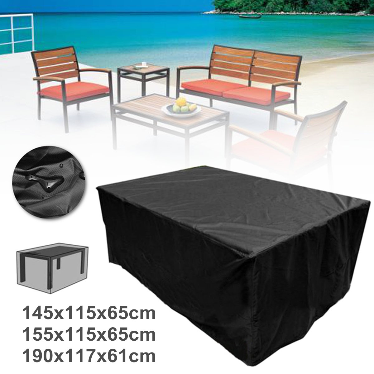 corner sofa outdoor furniture covers italy agreement waterproof garden patio cover rectangular rattan details about table