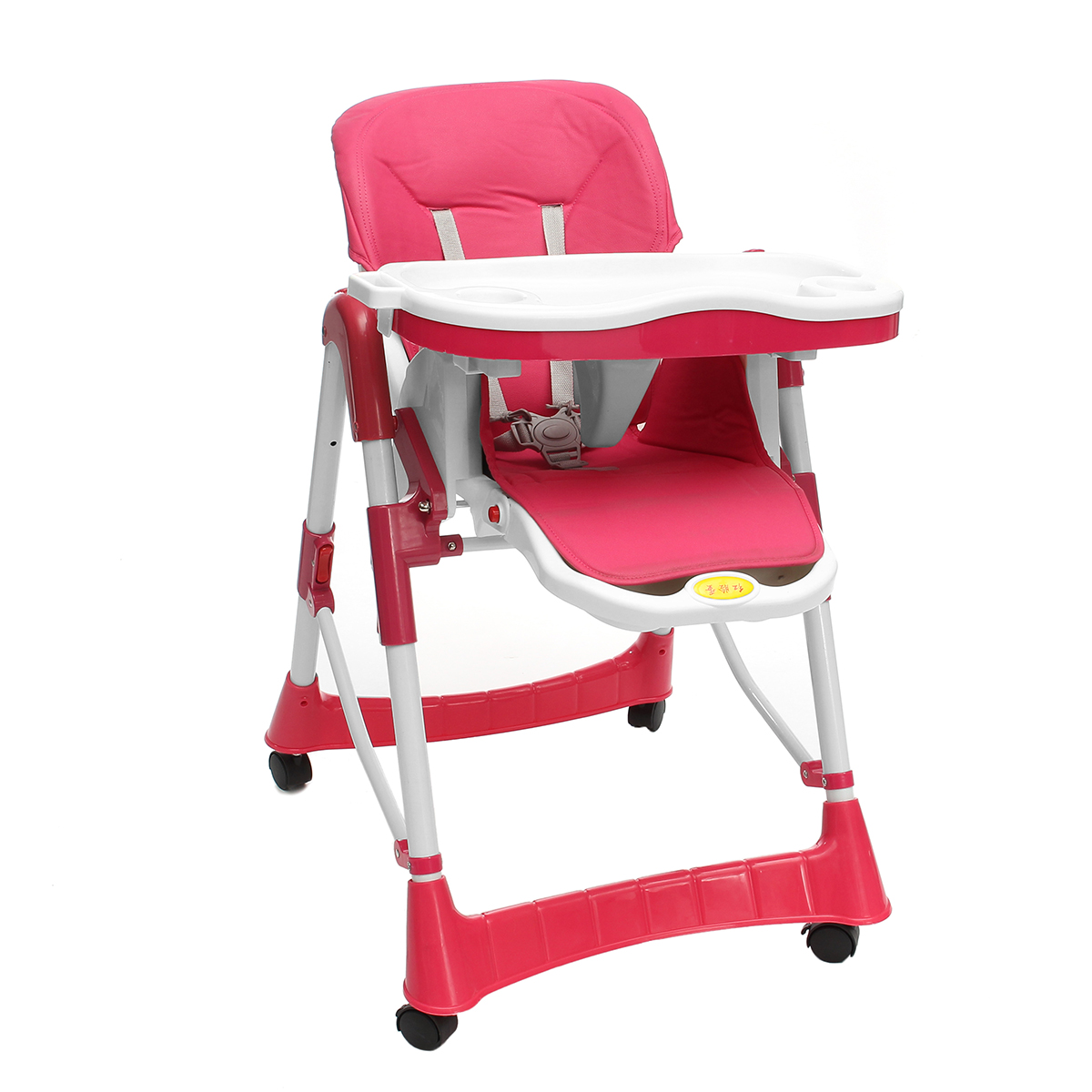 high chair with wheels banquet hall covers for sale baby child stool seat adjustable foldable