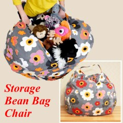 Bean Bag Storage Chair Cover Fabric Sale Kids Stuffed Animal Canvas Pouch