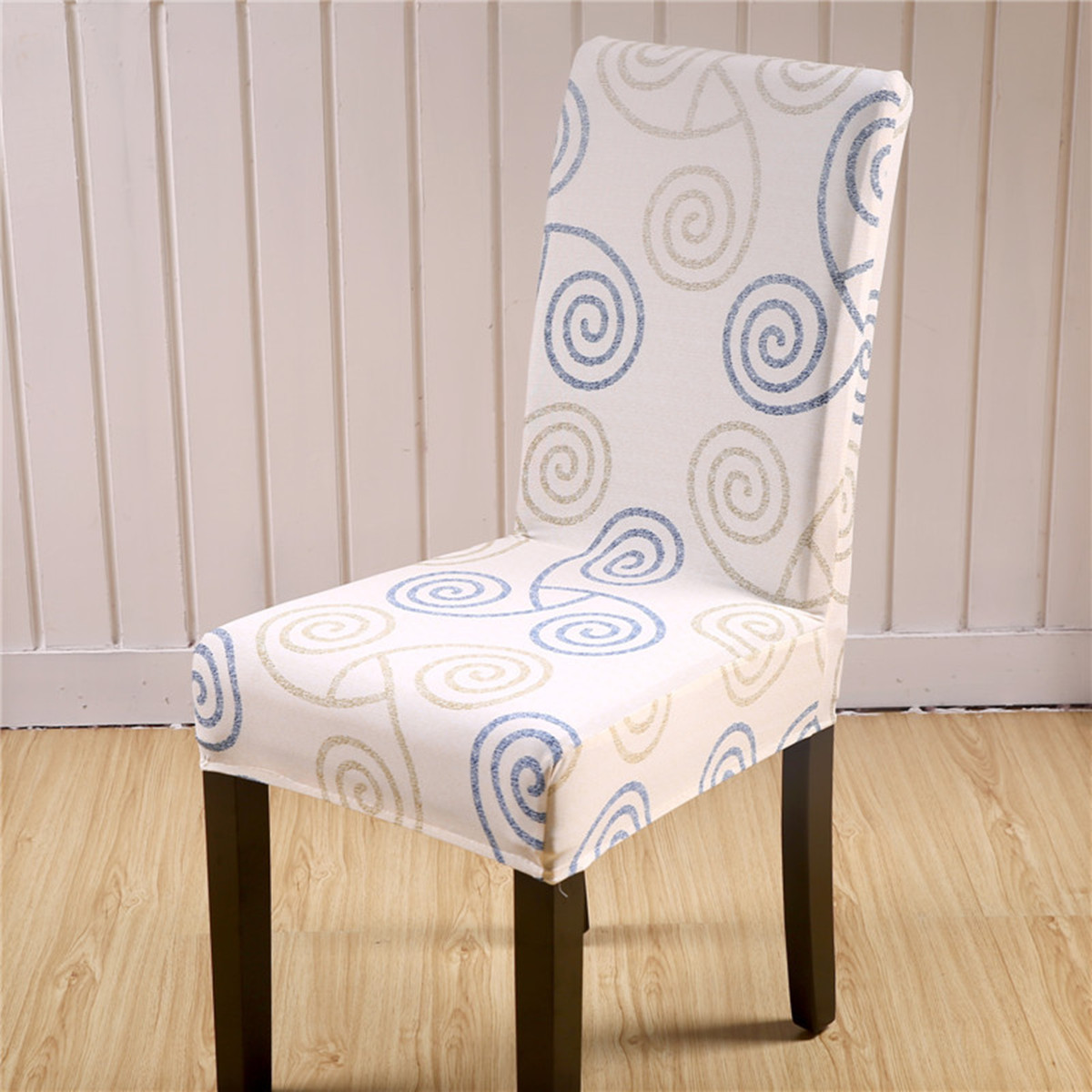 chair seat covers with elastic french reproduction dining chairs floral cover room wedding banquet