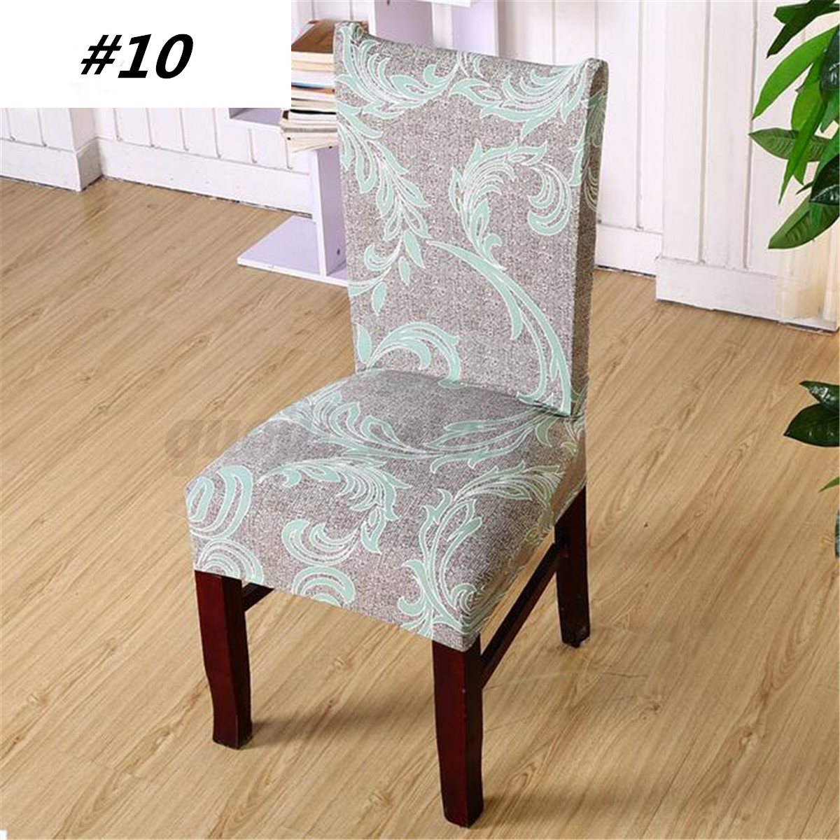 chair covers set of 6 leather desk with no wheels spandex stretch cover seat polyester washable