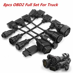 7 Pin Knorr Wabco Trailer Cable 2005 Dodge Caravan Radio Wiring Diagram High Quality Obd2 Obdii Full Set Tcs 8 Pcs Truck Cables