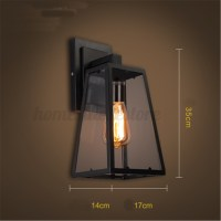 Retro Vintage Outdoor Wall Lamp Lantern Sconce Light ...