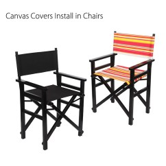 Director Chair Covers Grey Buy Swing Stand Casual Directors Chairs Replacement Canvas Seat And Back