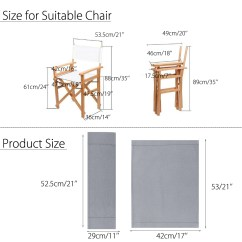 Director Chair Replacement Covers Ebay Outdoor Rocking Christmas Casual Directors Chairs Canvas Seat And Back