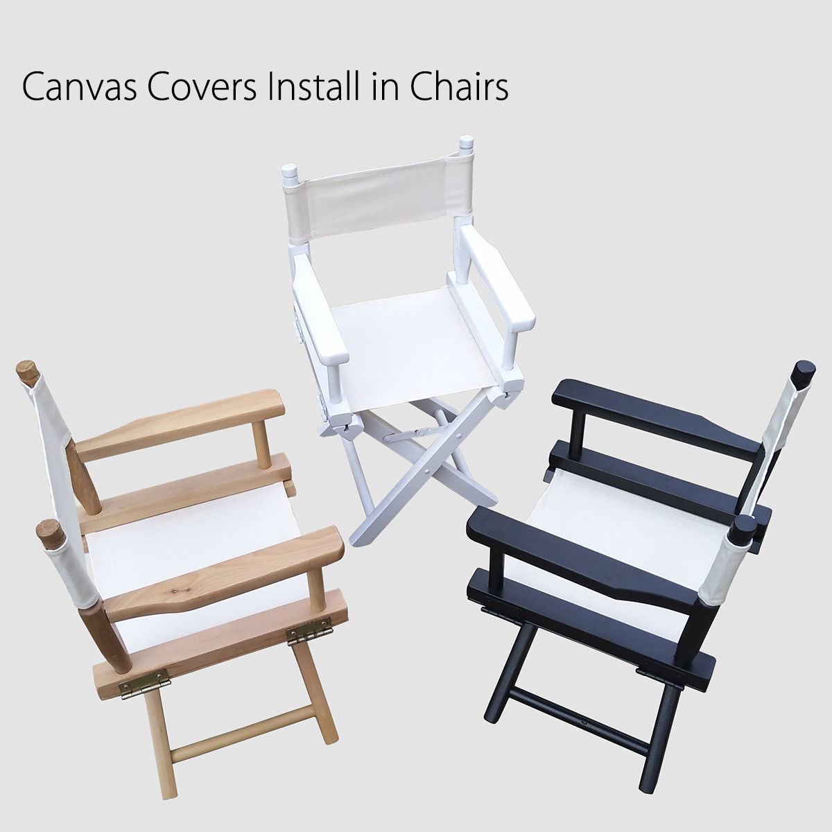 director chair covers grey dining room chairs sale casual directors replacement canvas seat and back