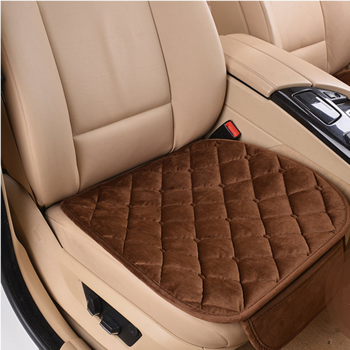 leather chair covers ebay horse saddle bar chairs new plush anti slip car seat cover small mat rhombus