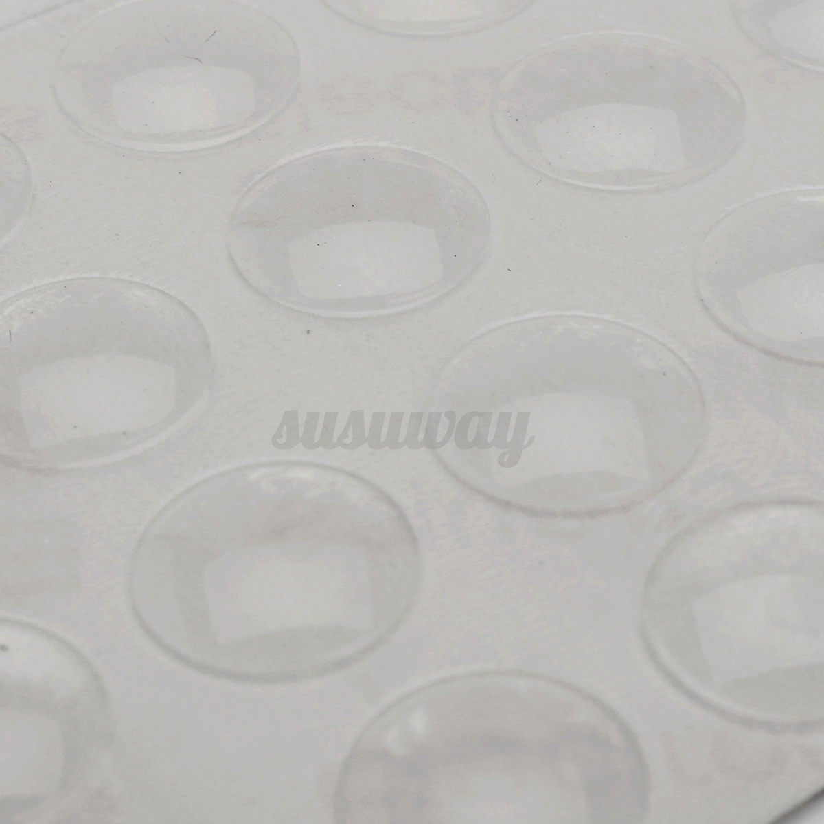 400x Clear Self Adhesive Rubber Feet Semicircle Bumper