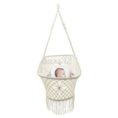 Hanging Chair For Baby Folding Sale White Rope Macrame Hammock Swing