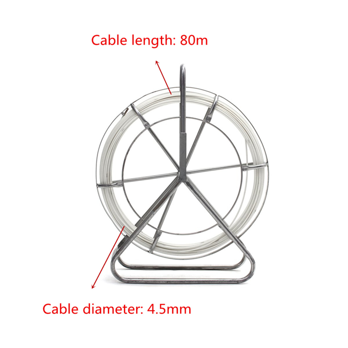 4 5 6 8 10mm Fish Tape Fiberglass Wire Cable Running Rod