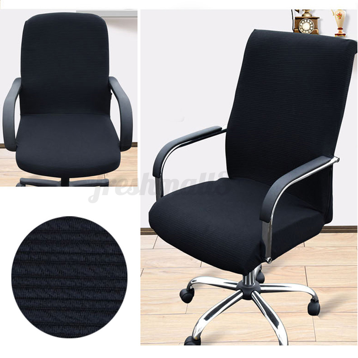 desk chair seat covers comfy chairs for kids slip cover stretch office armchair protective