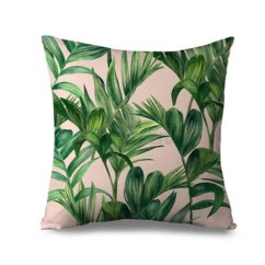 Tropical Sofa Throw Cover Sectional Lamps Banana Leaves Cushion Cotton Linen
