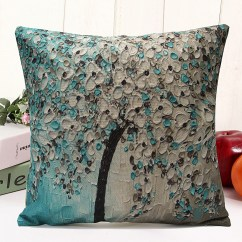 Tropical Sofa Throw Cover Laptop Side Table Classical Floral Plant Leaf Cushion Covers Waist