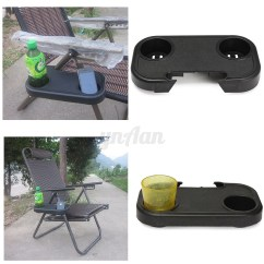 Chair Side End Table With Cup Holder High Back Computer Clip On Relaxer Beach Tray 2 Glass