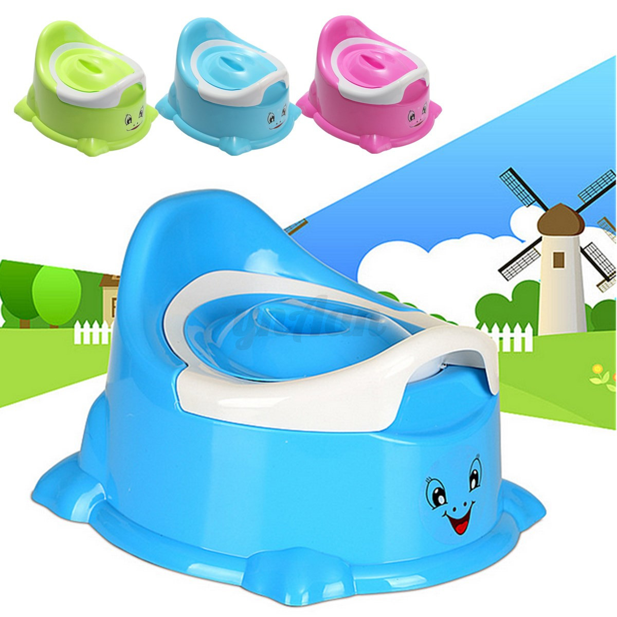 New Portable Cartoon Potty Toilet Chair Seat Baby Toddler