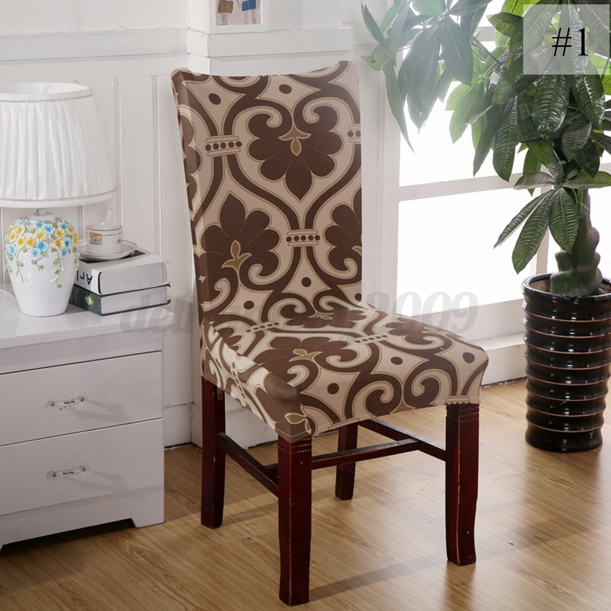 dining room chair covers ebay rocking styles antique 4 x removable stretch elastic seat cover