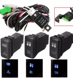 led driving light wiring loom harness relay 40a switch for toyota hiace hilux fj 6132227683088 ebay [ 1200 x 1200 Pixel ]