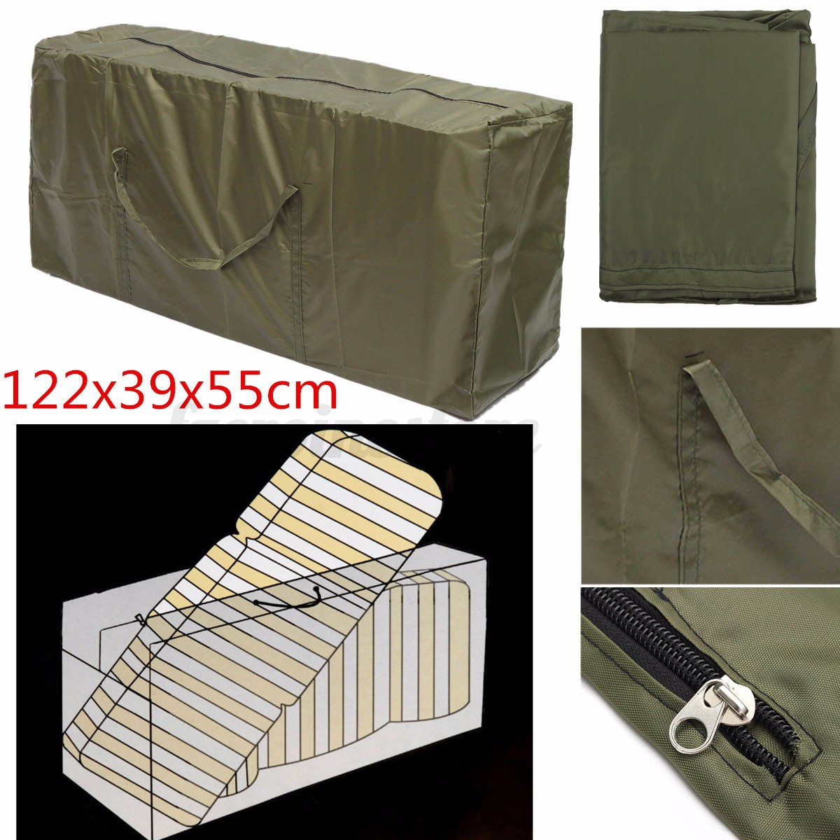 sofa cover storage bag lane alpine leather reclining waterproof furniture for outdoor garden patio bench