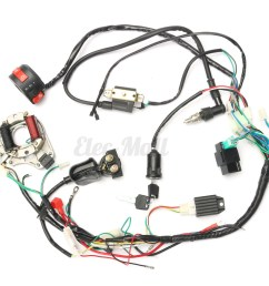 50cc 125cc cdi wire harness stator assembly wiring set chinese atv chinese atv wiring harness diagram chinese atv wiring harness [ 1200 x 1200 Pixel ]