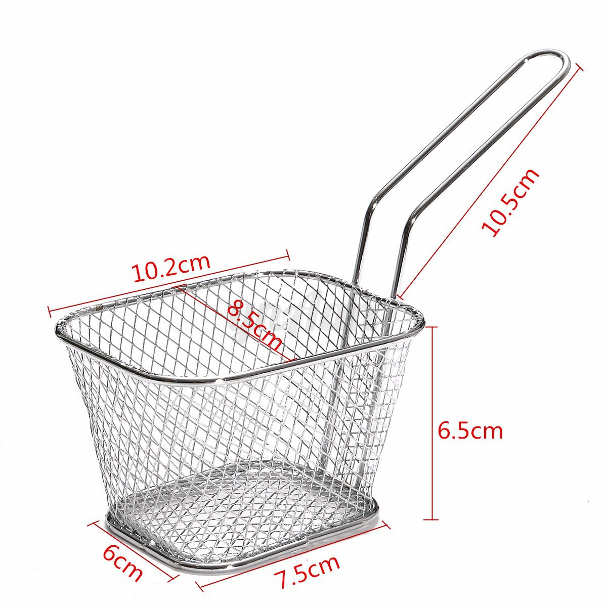 8Pcs Mini Mesh Wire French Fry Chips Serving Baskets Net